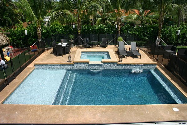 About south florida pool contractor for Pool designs florida